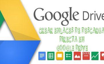 Crear enlaces de descarga directa en Google Drive
